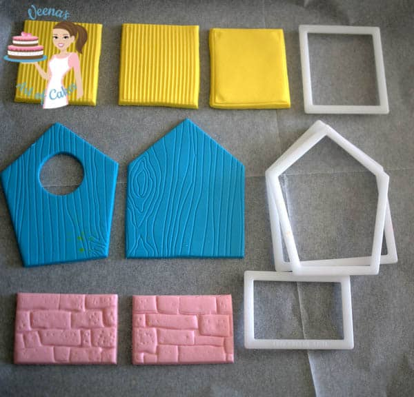 Enchanted Birdhouse fondant components.