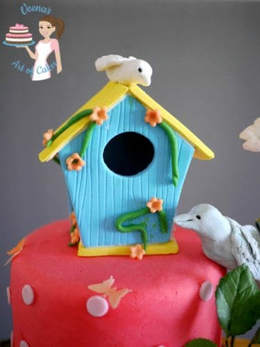 Enchanted Birdhouse Forest Cake (57)