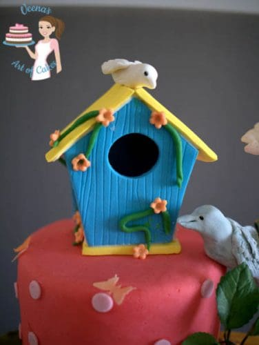 Enchanted Birdhouse Forest Cake (58)