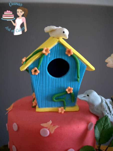 Enchanted Birdhouse cake topper