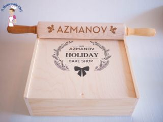 Personalized Pie Box and Rolling Pin