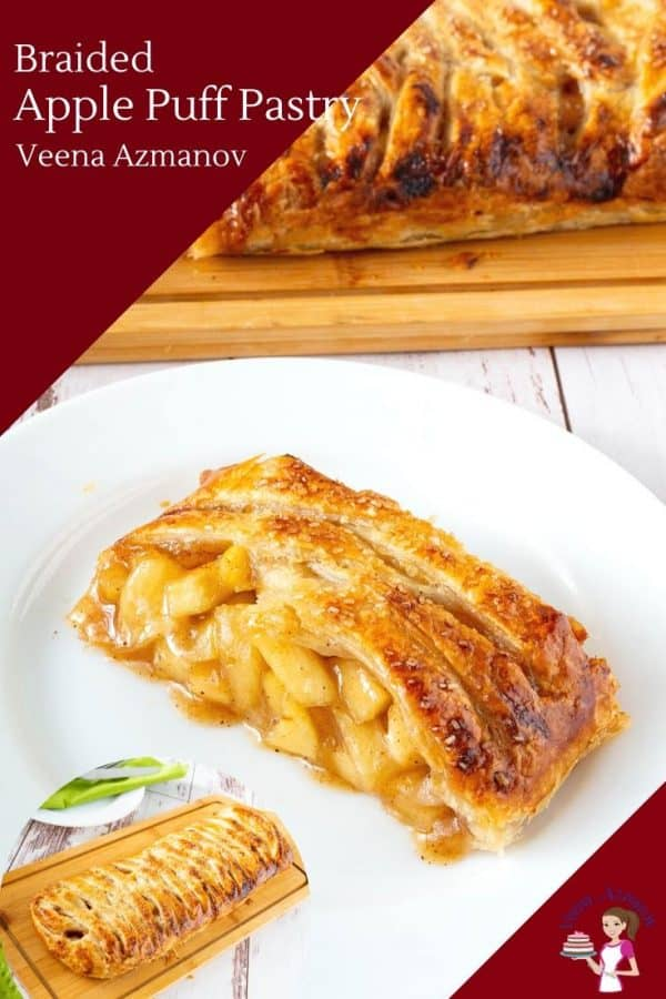 How to make braided pastry with apple pie filling and puff pastry