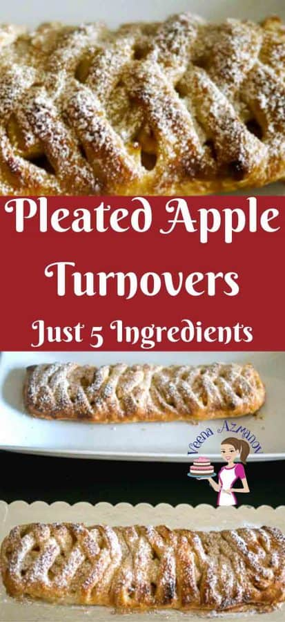 A fancy Apple Turnover is a simple easy and effortless way to impress your family and friends with an impressive pleated design leaving them wondering how you did it. It's looks complicated but is really simple and I show you how in this step by step details