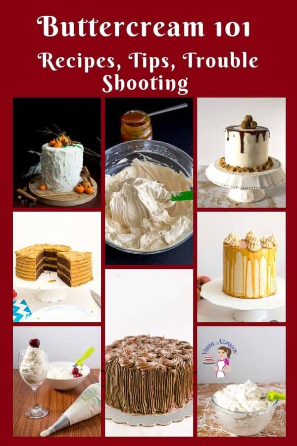A collage of cakes decorated with buttercream.