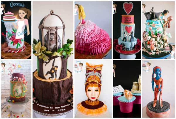 Collaboration cakes of 2015 by Veena's Art of Cakes