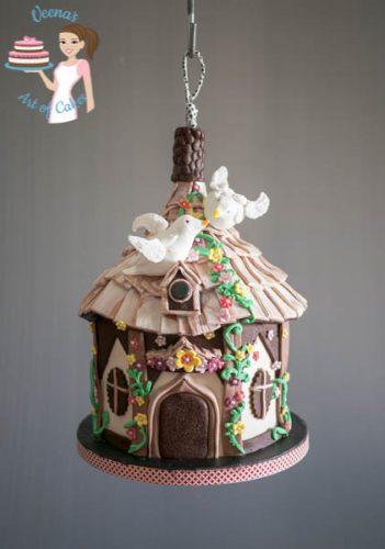 Handing Bird House cake (2)