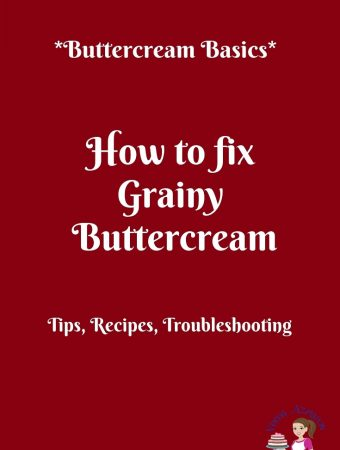 This is how you fix grainy buttercream, and here's how you can avoid gritty buttercream in future.