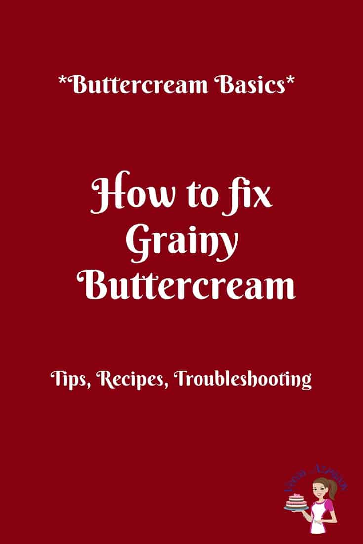 Have you ever had grainy buttercream? Today I'm going to share with you how you can avoid grainy gritty buttercream problems #grainy #gritty #buttercream #troubleshooting via @Veenaazmanov