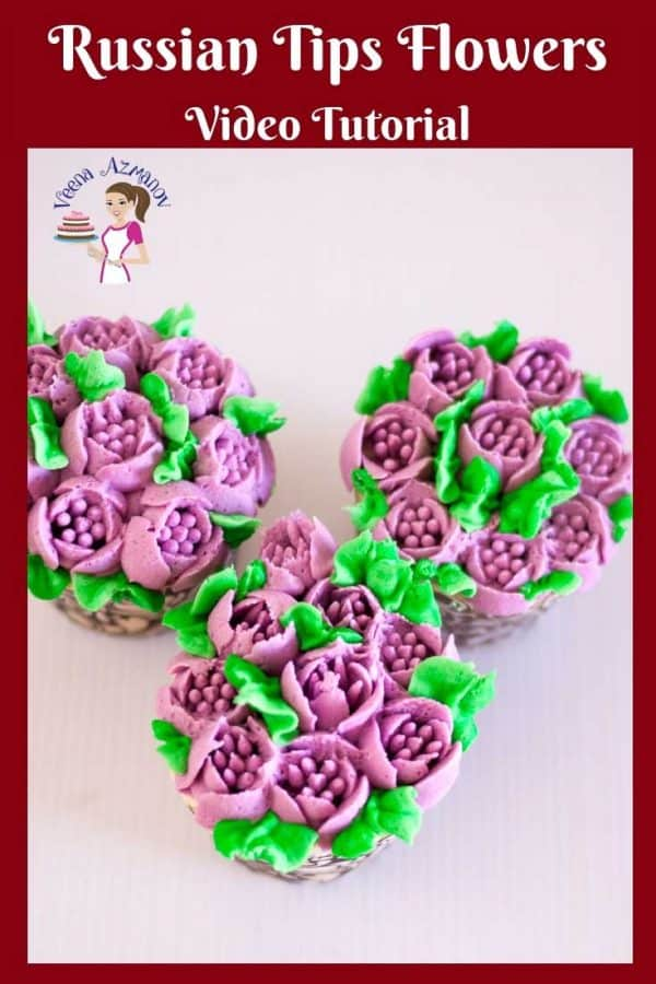 Ever wondered how to use Russian PipingTips for Piping Flowers? Heres my recipes and tips