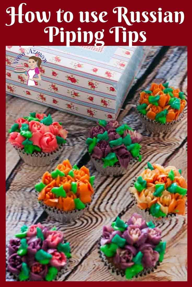 Ever wondered how to use Russian Flower Tips for Piping Flowers? Heres my recipes and tips