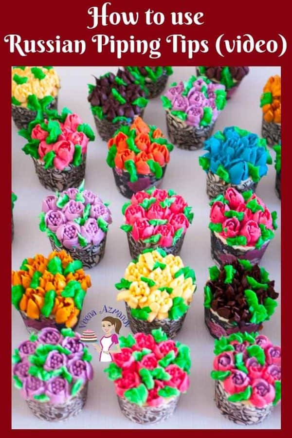 Ever wondered how to use Russian Buttercream Tips for Piping Flowers? Heres my recipes and tips