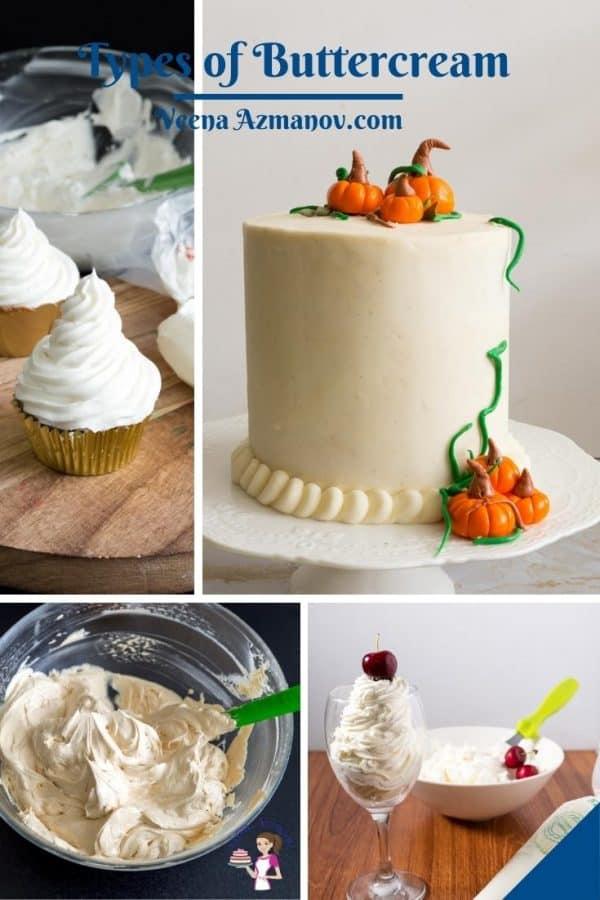 Pinterest image for buttercream basics.