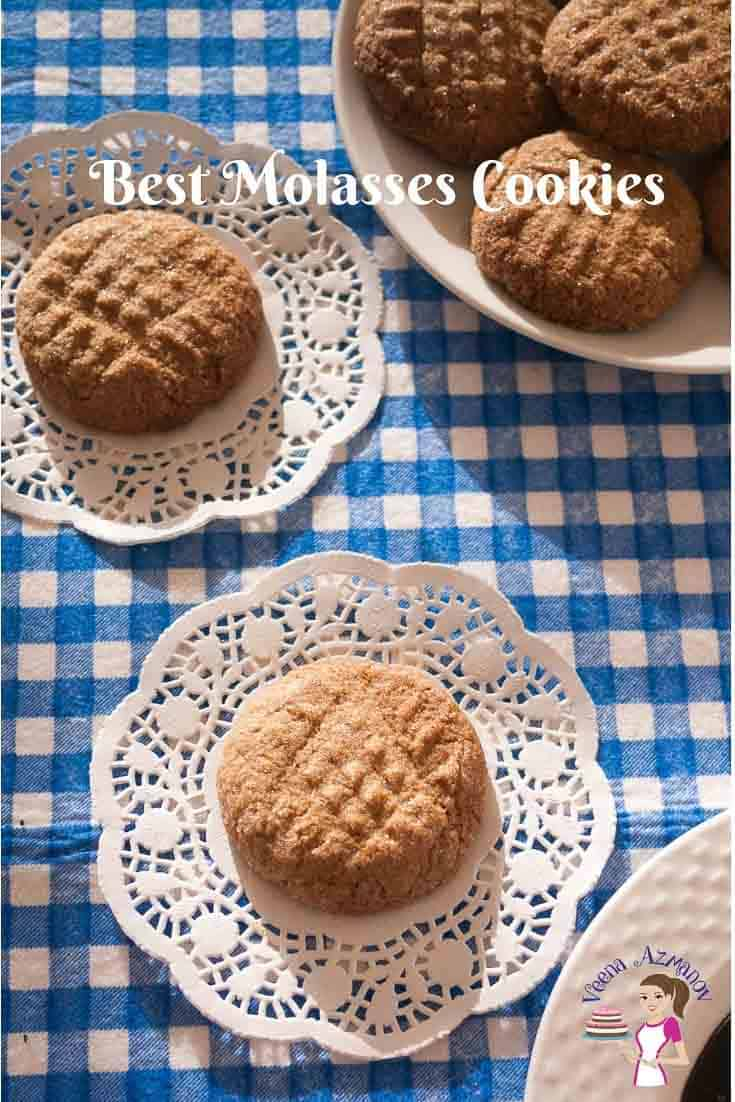 Make the best Molasses cookies with this step by step video tutorial recipe in under 30 minutes