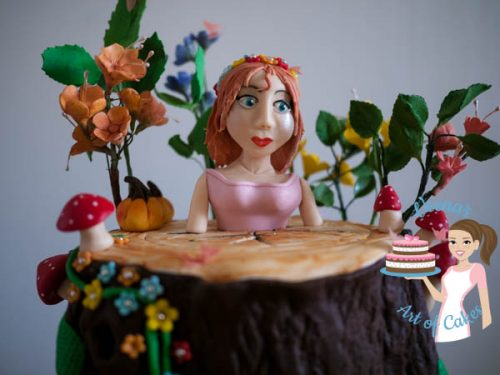Enchanted Forest Princess Cake (17)