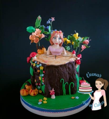 Enchanted Forest Princess Cake (28)