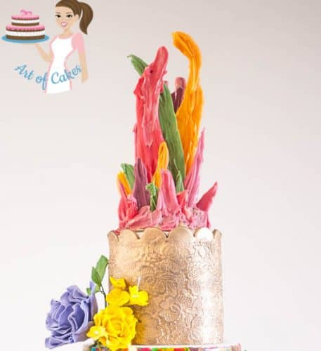 Color Splash Cake cake topper