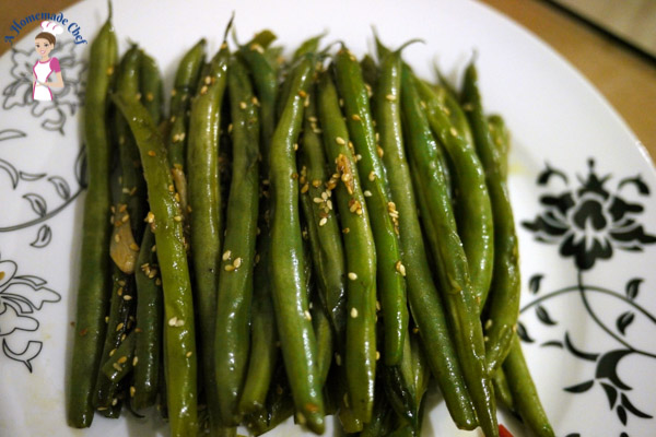 Quick and Easy Sesame Green Beans - Veena Azmanov