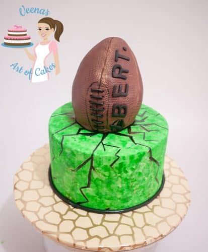 Cake Decorating Course Rugby : Rugby Theme Cake - Veena Azmanov