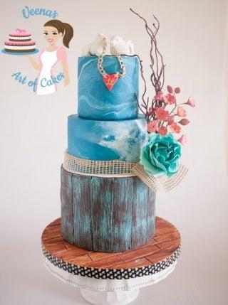Shabby Sheek Valentine Inspired Cake