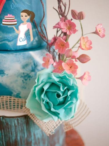 Shabby Sheek Style Cake