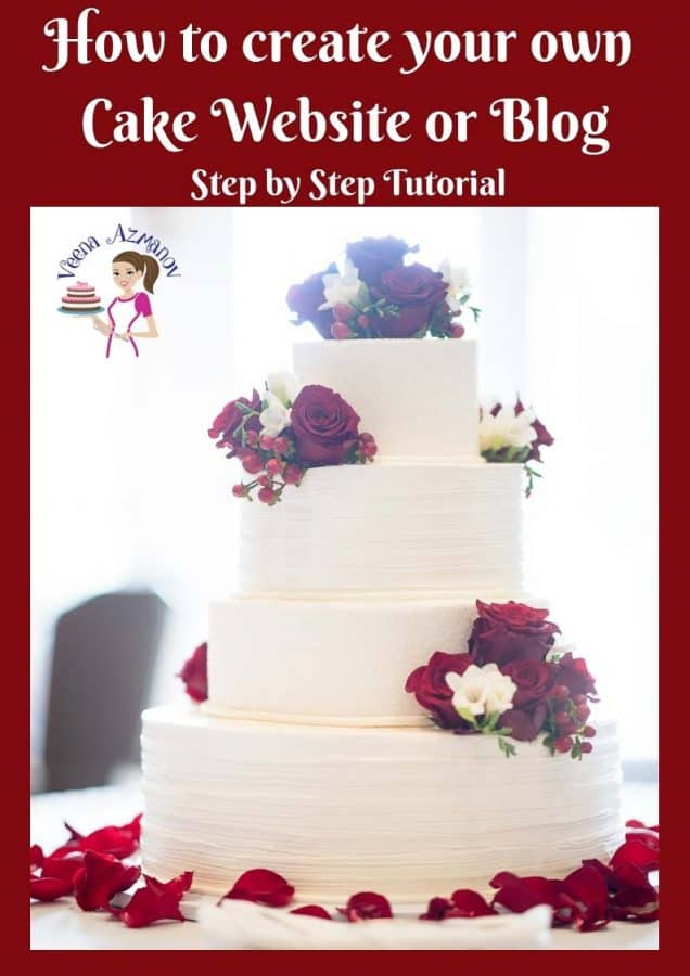 A detailed step by step on how to create your own cake blog - detailed tutorial.