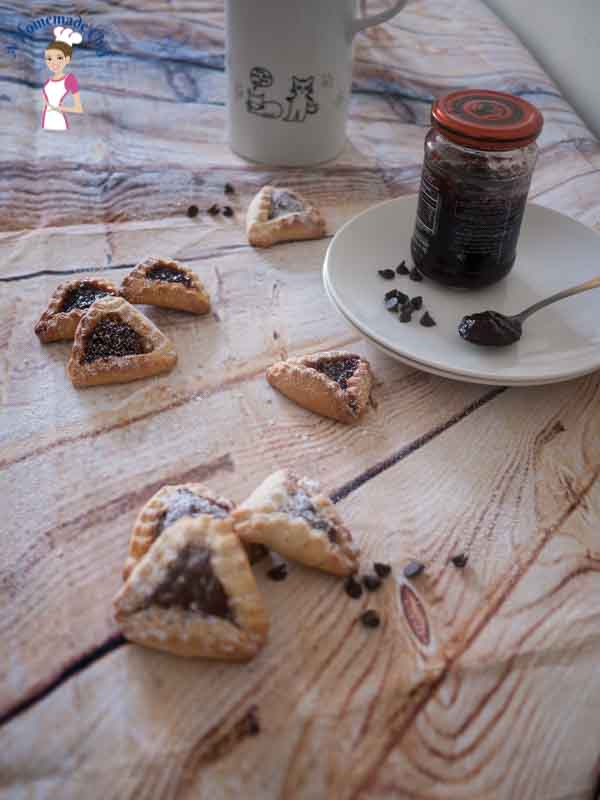 Ozen Haman Purim Cookies - this is the best recipe to make during Purim for adults or kids by food blog A Homemade Chef