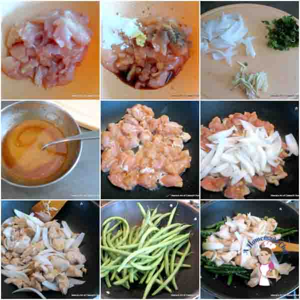 Chicken and Green Beans Stir Fry is a perfect weekday one pot Asian recipe that is so simple and easy to make in an instant from Foodblog A Homemade Chef dot net