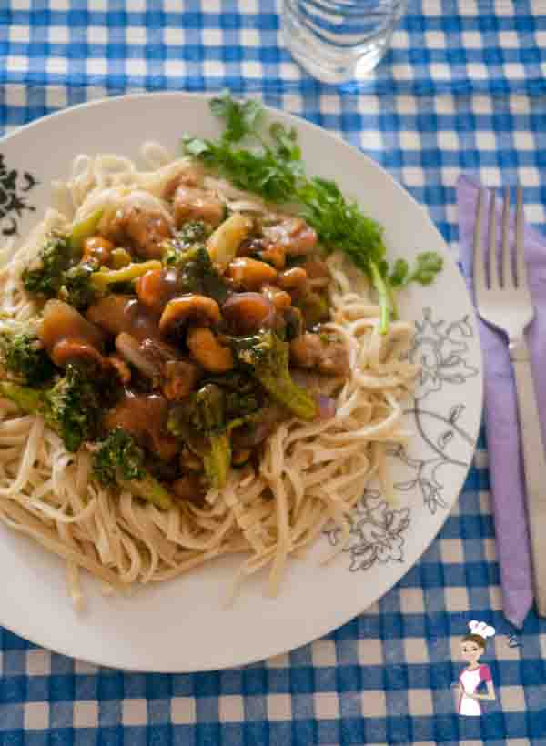 Chicken and Broccoli Stir Fry is the simplest and most easy recipe you can make for any week night effortlessly by food blog A Homemade Chef dot net