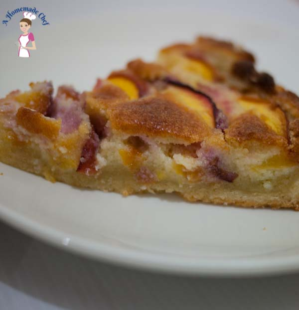 Nectarine Frangipani Tart is a perfect summer recipe with a creamy almond filling and fresh summer stone fruits such as nectarine, peaches, apricots or plum