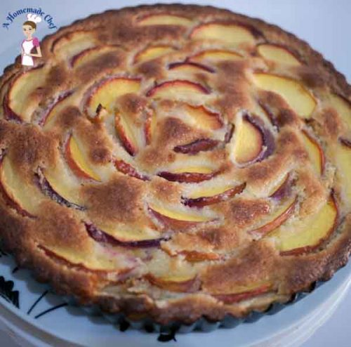 Nectarine Frangipani Tart - perfect summer recipe with a creamy almond filling from food blog ahomemadechef.net