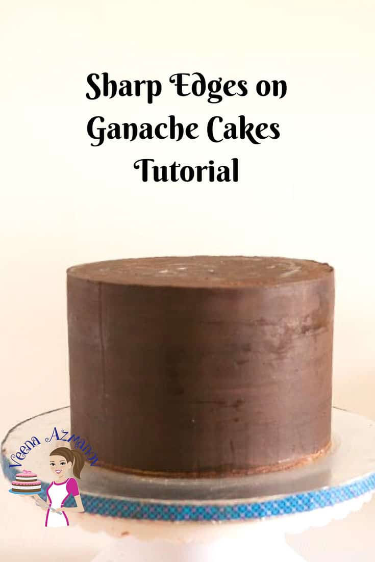 Sharp edges on ganache cakes are now the basics of good cake decorating. Almost all professionally decorated cakes you see have beautiful crisp share edges with perfect straight sides all around. This video shares how I get sharp edges on my ganache cakes.