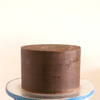 Cake with sharp edges.