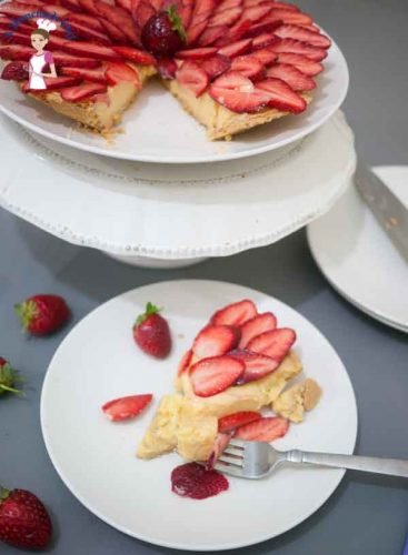 Strawberry Tart a perfect quick and easy dessert recipe that can be made ahead of time from food blog A Homemade Chef