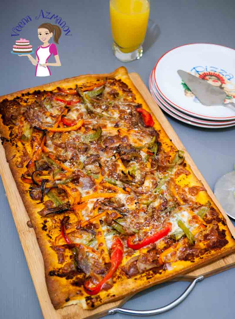 Best Red Pesto Pizza with Peppers