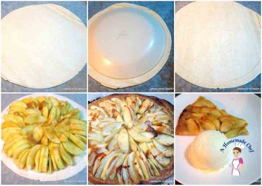 Quick and Easy Apple Tart is the most simplest and quickest recipe you could make for a quick homemade dessert by food blog A Homemade Chef