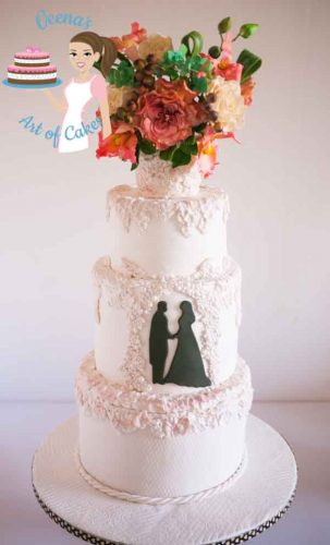 Bas-Relief White Wedding Cake is a gorgeous cake by Veena Azmanov of Veena's Art of Cakes. In this post she has generously shared information and details of how she made the cake.