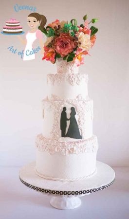 Bas-Relief White Wedding Cake