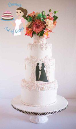 Bas-Relief White Wedding Cake
