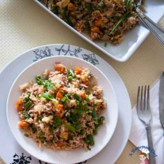 Chinese Fried Rice - Quick healthy Asian Cooking makes best use of left over rice and the easiest way to get dinner on the table in 15 minutes