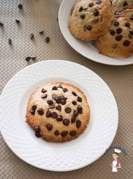 Chocolate Chip Cookies - the best chocolate chip cookie recipe soft and chewy on the inside crisp on the out by food blog A Homemade Chef
