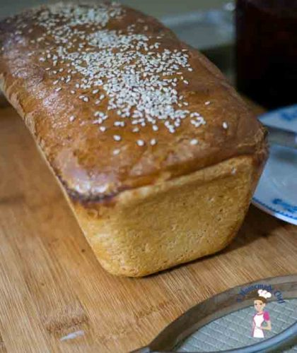 This classic white bread recipe is a simple and easy full proof recipe that will guarantee a good loaf of bread. It comes out light and airy goes will with just plain butter or jam or can be made into delicious sandwiches by food blog A Homemade Chef.