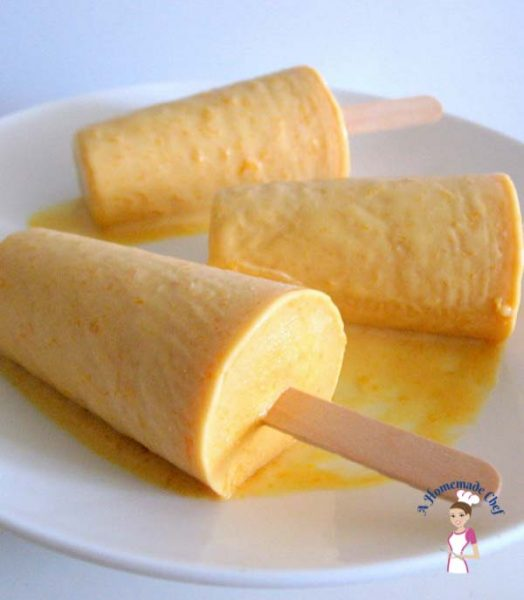 Instant Mango Kulfi is an Indian version of Mango Ice Cream made from full fat milk. This is a quick and easy version recipe of this delicious dessert that traditionally took for ever to make by food blog A Homemade Chef