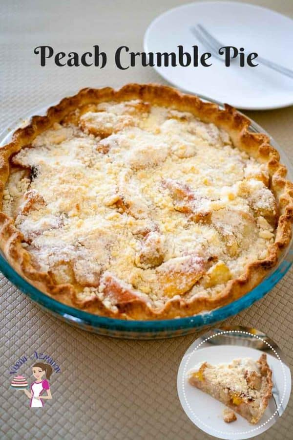 The Perfect summer fruit crumble pie with peaches