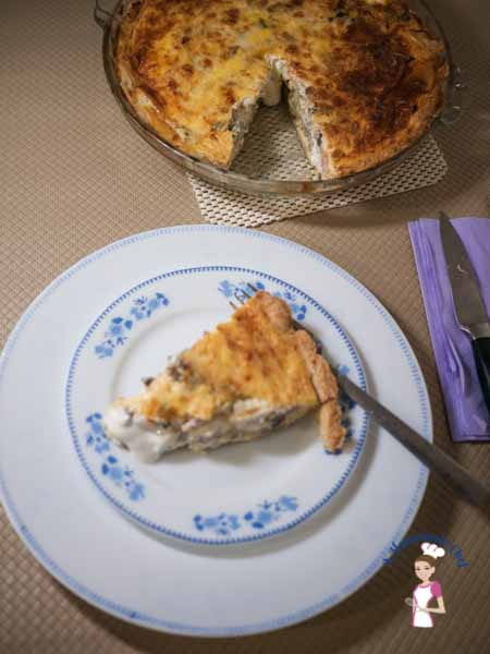 Artichokes Goats Cheese Quiche is an absolutely delicious recipe for anyone who loves goats cheese, artichokes or both. A simple easy and great recipe to make for parties too by food blog A Homemade Chef