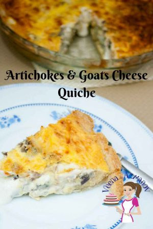 Cheesy Artichokes Goats Cheese Quiche Recipe