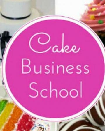 A logo for cake business school.