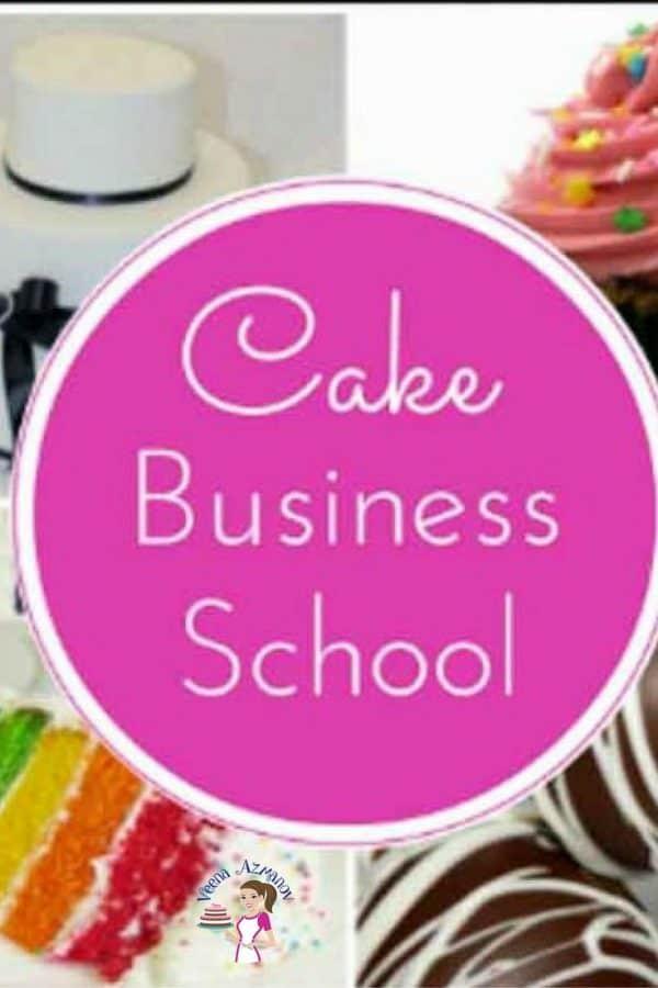 A logo for cake business school.