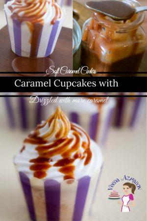 Caramel Cupcakes with Soft Caramel Centers
