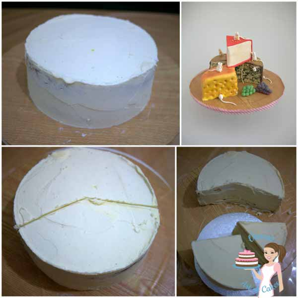 A Fondant Cheese and Mice Cake is a fun novelty cake perfect for any age or gender. This step by step tutorial makes it look so easy you will be surprised by Veena Azmanov