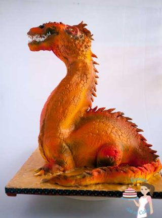 Dragon Gravity Defying Cake